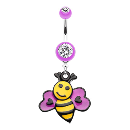 Dangling Belly Ring. Navel Rings Australia. Bumbly Bee Lovin Belly Dangle
