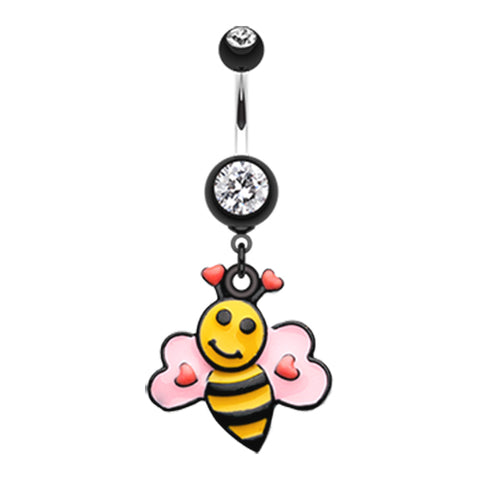 Bumbly Bee Lovin Belly Dangle - Dangling Belly Ring. Navel Rings Australia.