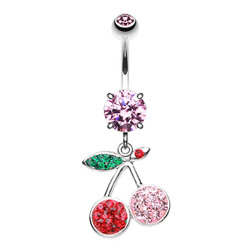 Motley™ Cherry Belly Dangle - Dangling Belly Ring. Navel Rings Australia.