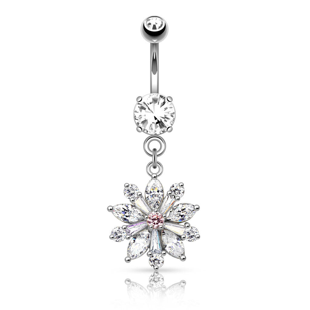 Isabella Bloom Belly Bar - Dangling Belly Ring. Navel Rings Australia.