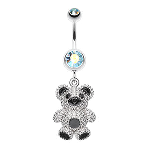 Adorable Teddy Bear Belly Dangle - Dangling Belly Ring. Navel Rings Australia.