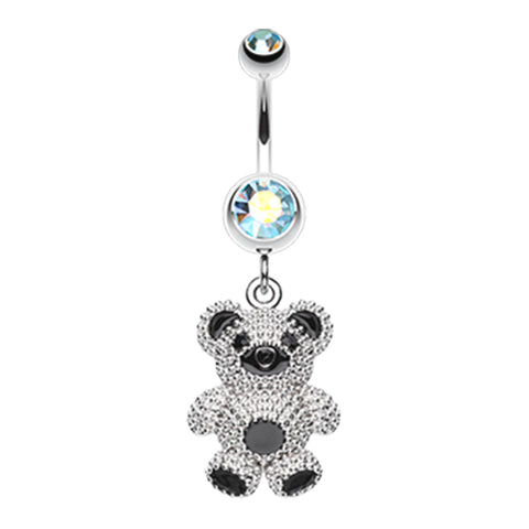 Dangling Belly Ring. Cute Belly Rings. Adorable Teddy Bear Belly Dangle