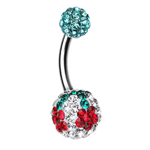 Motleys™ Dainty Daisy Belly Bar - Basic Curved Barbell. Navel Rings Australia.
