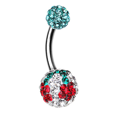 Basic Curved Barbell. Navel Rings Australia. Motley's Dainty Daisy Belly Bar