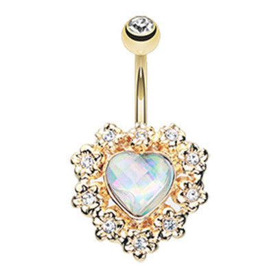 Fixed (non-dangle) Belly Bar. Belly Bars Australia. Kendra Heart Belly Ring