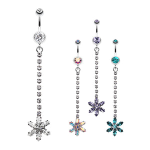 Zarina's Lo Drop Daisy Belly Ring - Dangling Belly Ring. Navel Rings Australia.