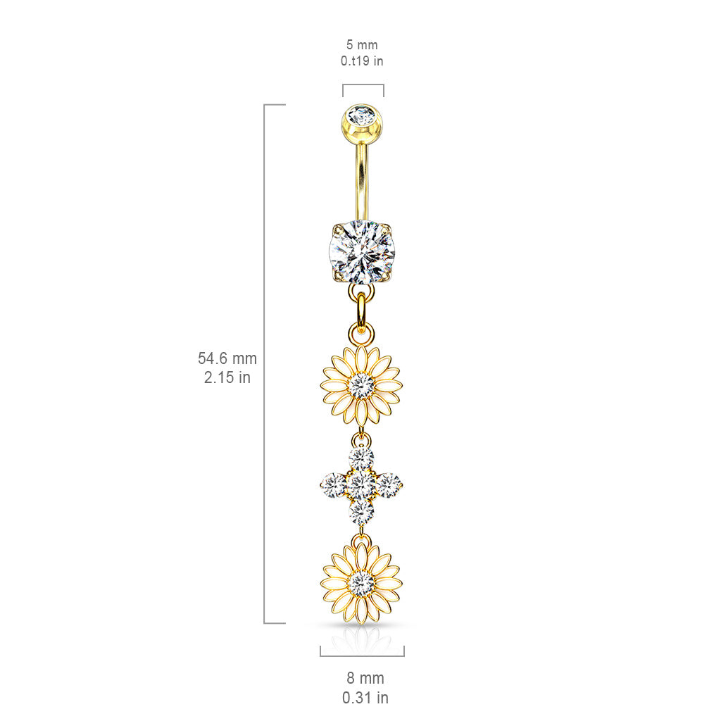 Dangling Belly Ring. Shop Belly Rings. Uniting Daisy Chain Belly Ring