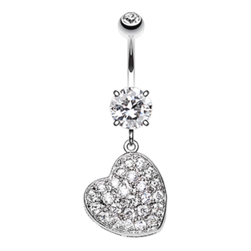 Dangling Belly Ring. High End Belly Rings. Seduced My Heart Belly Piercing Ring