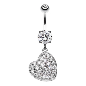 Seduced My Heart Belly Piercing Ring - Dangling Belly Ring. Navel Rings Australia.