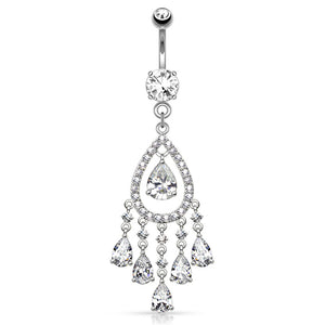 ChaCha Chandelier Belly Dangle - Dangling Belly Ring. Navel Rings Australia.
