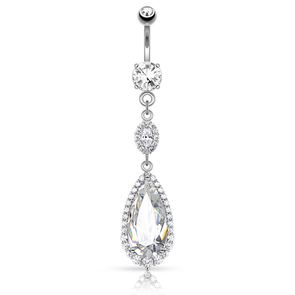 Sydney's Diamond Lust Belly Bar - Dangling Belly Ring. Navel Rings Australia.