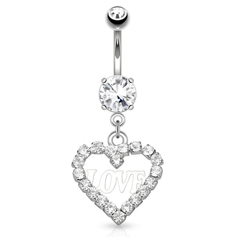 Dangling Belly Ring. Buy Belly Rings. Une Déclaration D'amour Belly Ring