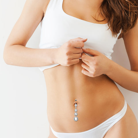 Diva Dangle Belly Button Ring - Dangling Belly Ring. Navel Rings Australia.
