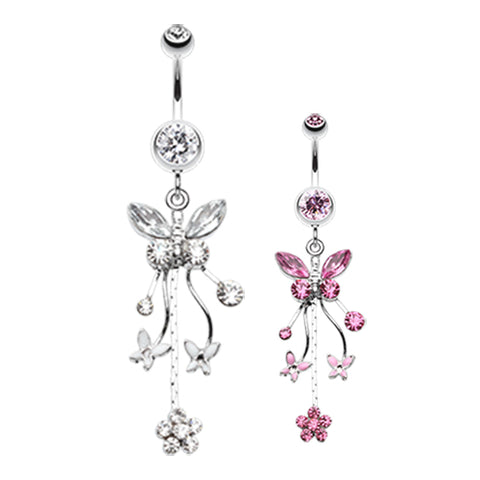 Dangling Belly Ring. Shop Belly Rings. Flutter Frenzy Butterfly Dangly