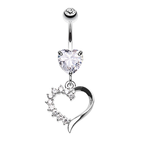 Dangling Belly Ring. Belly Bars Australia. Jack n Sally's Heart Belly Bar