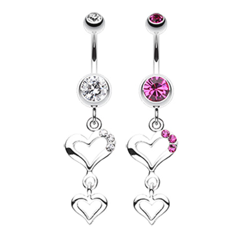 Dangling Belly Ring. Cute Belly Rings. Kindred Spirits Heart Belly Ring