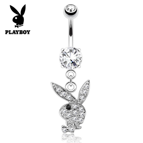 Black Official ©Playboy Classics Dangly Belly Rings