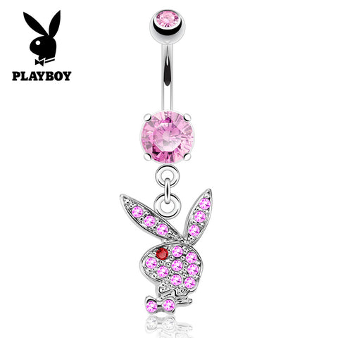 Pink Official ©Playboy Classics Dangly Belly Rings