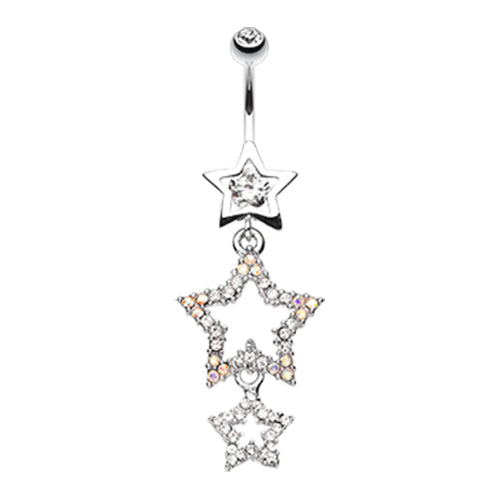Dangling Belly Ring. High End Belly Rings. Star Show Ground Belly Dangle