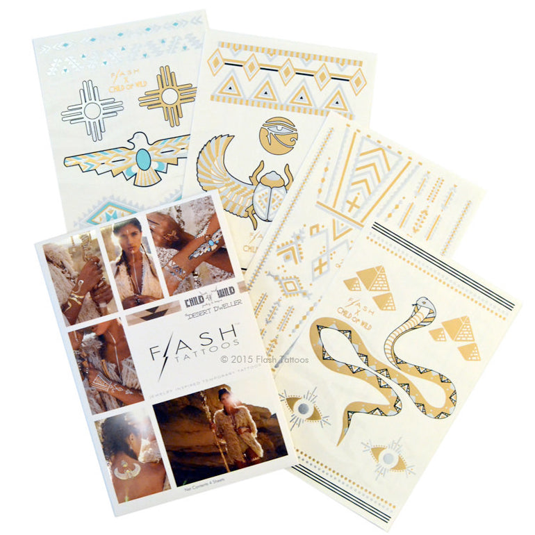 Temporary Tattoo. High End Belly Rings. Desert Dweller By Child Of Wild and Flash™ Tattoos