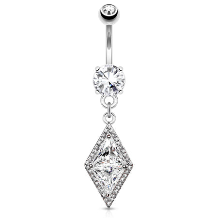 Dangling Belly Ring. Shop Belly Rings. Diamonds Forever Belly Drop