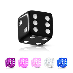 5mm UV Acrylic Dice Body Jewellery Part - Replacement Ball. Navel Rings Australia.