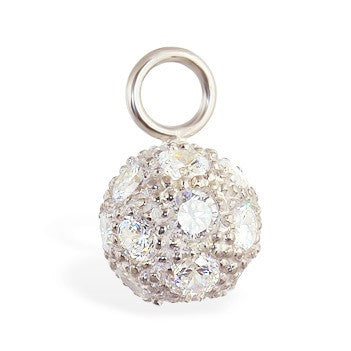 TummyToys® Swinger Charm. . TummyToys® Cubic Zirconia Disco Ball Swinger