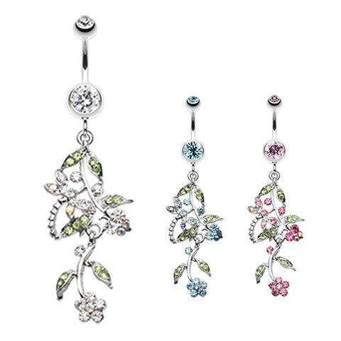 Dangling Belly Ring. Buy Belly Rings. Dragonfly Garden Chandelier Navel Bar