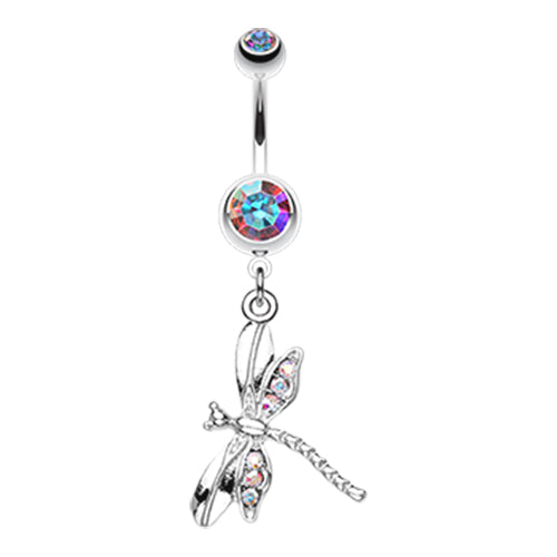 Dangling Belly Ring. Navel Rings Australia. Zoom Dragon Fly Belly Ring