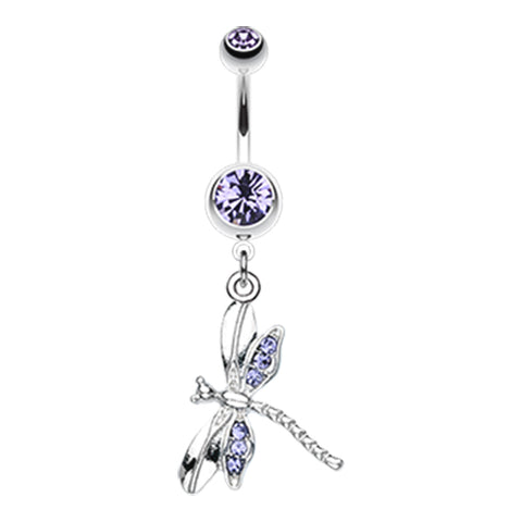 Tanzanite Zoom Dragon Fly Belly Ring