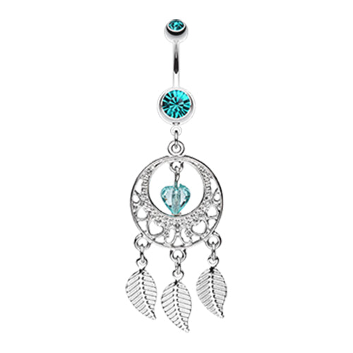 Viridian Dreams Belly Button Ring - Dangling Belly Ring. Navel Rings Australia.