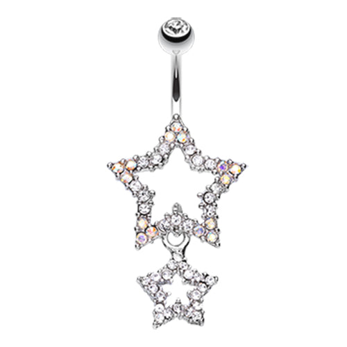 Dangling Belly Ring. Belly Rings Australia. Orions Midnight Star Dangly Navel Ring