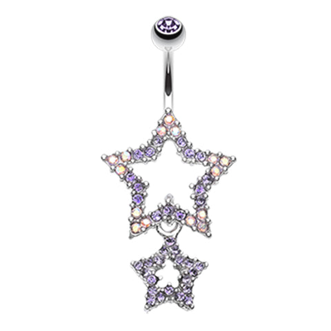 Tanzanite Orions Midnight Star Dangly Navel Ring