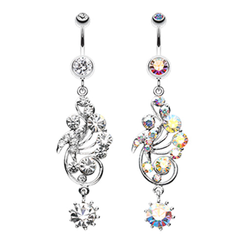 Regal Rush Belly Dangle - Dangling Belly Ring. Navel Rings Australia.