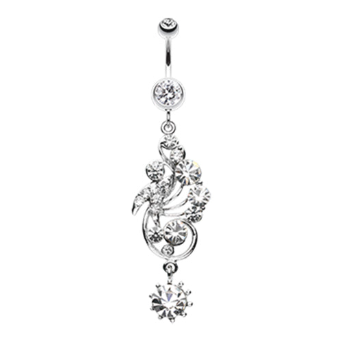 Dangling Belly Ring. Belly Bars Australia. Regal Rush Belly Dangle