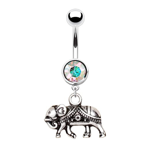 Indonesian Gajah Belly Ring - Dangling Belly Ring. Navel Rings Australia.