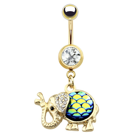 Dangling Belly Ring. Shop Belly Rings. Mermaid Elephant Belly Dangle