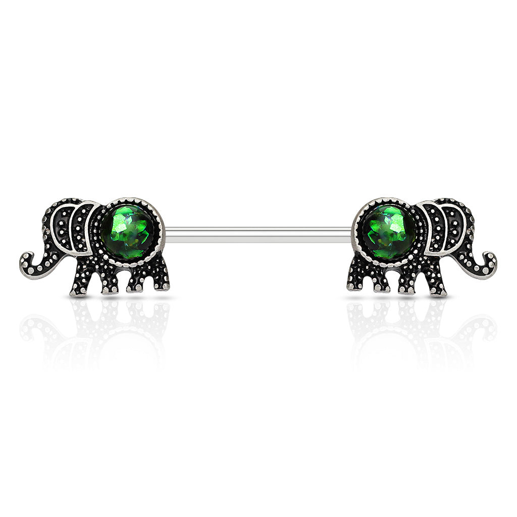 Nipple Ring. High End Belly Rings. Bellifante Elephant Nipple Barbell