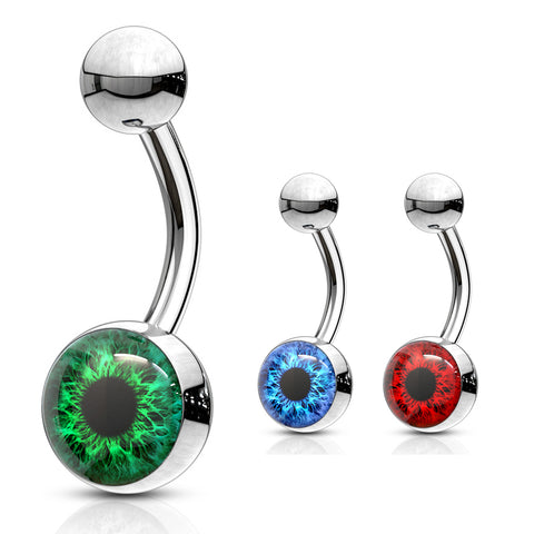 I C U Eyeball Belly Bars