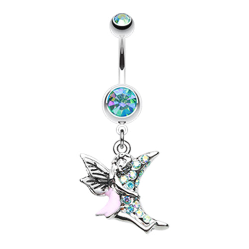 Luna Lovin' Fairy Belly Dangle - Dangling Belly Ring. Navel Rings Australia.