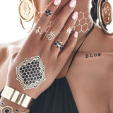 Beyoncé by Flash™ Tattoos - Temporary Tattoo. Navel Rings Australia.