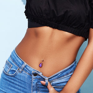 La Femme Teardrops Belly Bar - Fixed (non-dangle) Belly Bar. Navel Rings Australia.