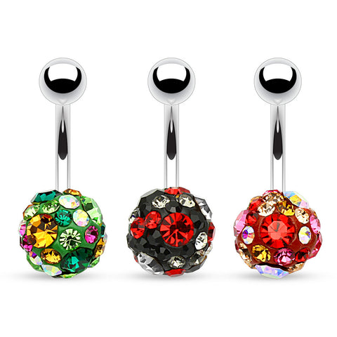 Basic Curved Barbell. Quality Belly Bars. Mega Motley™ Fusion Belly Bars