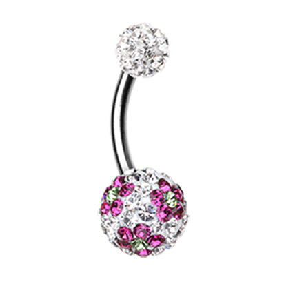 Basic Curved Barbell. Belly Rings Australia. Motleys™ Festive Daisy Belly Bar