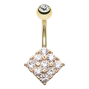 Misty Bambina Belly Bar in Gold - Fixed (non-dangle) Belly Bar. Navel Rings Australia.