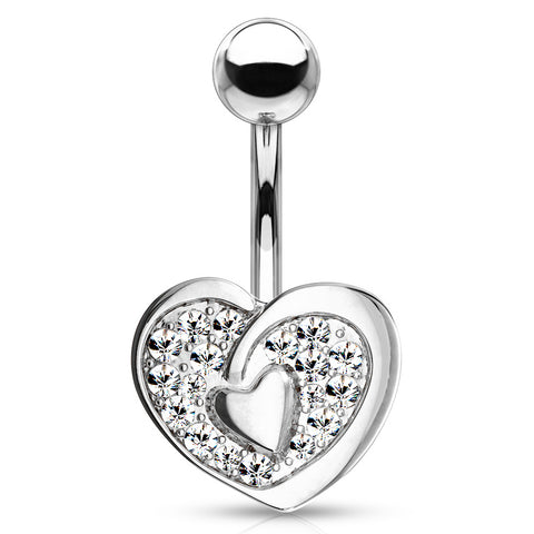 Fixed (non-dangle) Belly Bar. Belly Rings Australia. Vous et Moi Lovers Belly Bar