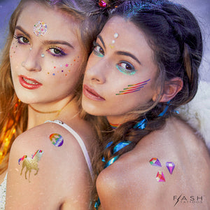 Forever Rainbow by Flash™ Tattoos ... Unicorn Lovin' Tats - Temporary Tattoo. Navel Rings Australia.