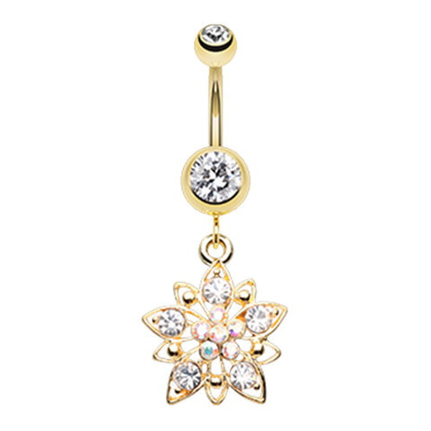 Dangling Belly Ring. Buy Belly Rings. Mexican Botanist Belly Dangle in Gold