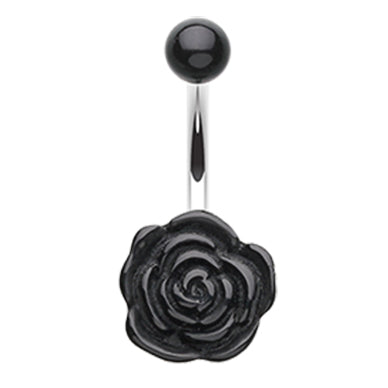 Fixed (non-dangle) Belly Bar. Shop Belly Rings. Rosette's Floral Bloom Belly Rings