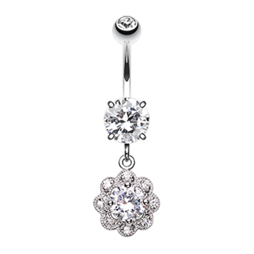 Flowers in Prague Belly Dangle - Dangling Belly Ring. Navel Rings Australia.